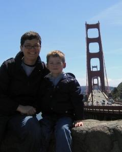 Kristen Fehlhaber and Leo at the Golden Gate Bridge