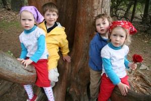 Violette, Leo, Ben and Sabine