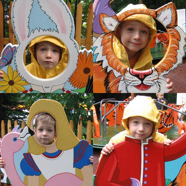 Leo as the White Rabbit, Tiger, Babaji, and Alice
