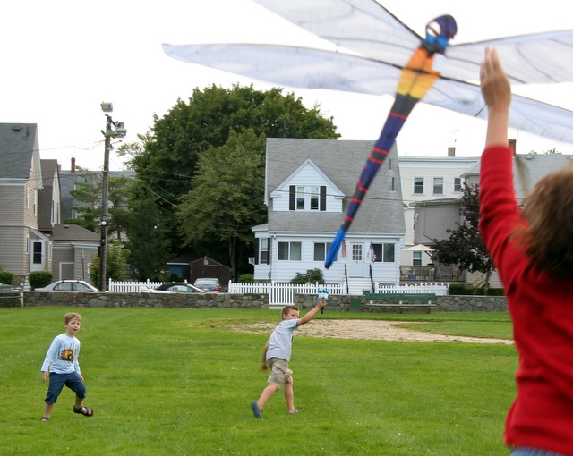 Kite flying with Anthony