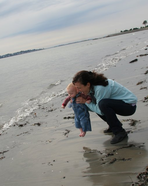 Liam seeing the ocean for the first time