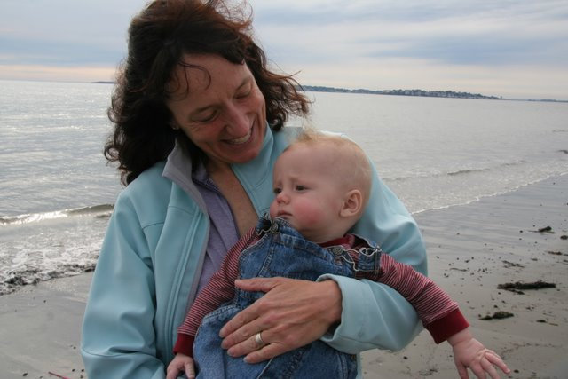 Jenny and Liam at King's Beach, Swampscott