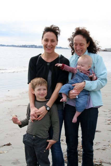 Sophie, her sister Jenny, and their boys