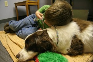 Leo get's some quality time with his dog