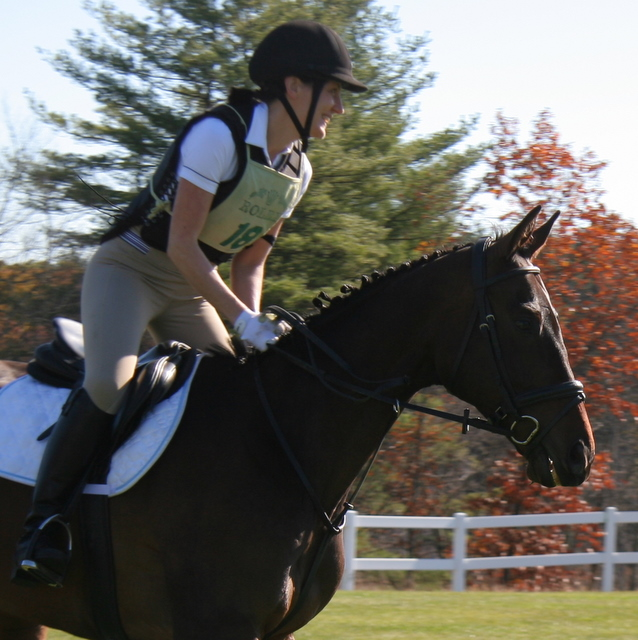 Heading towards one of 32 jumps they did today