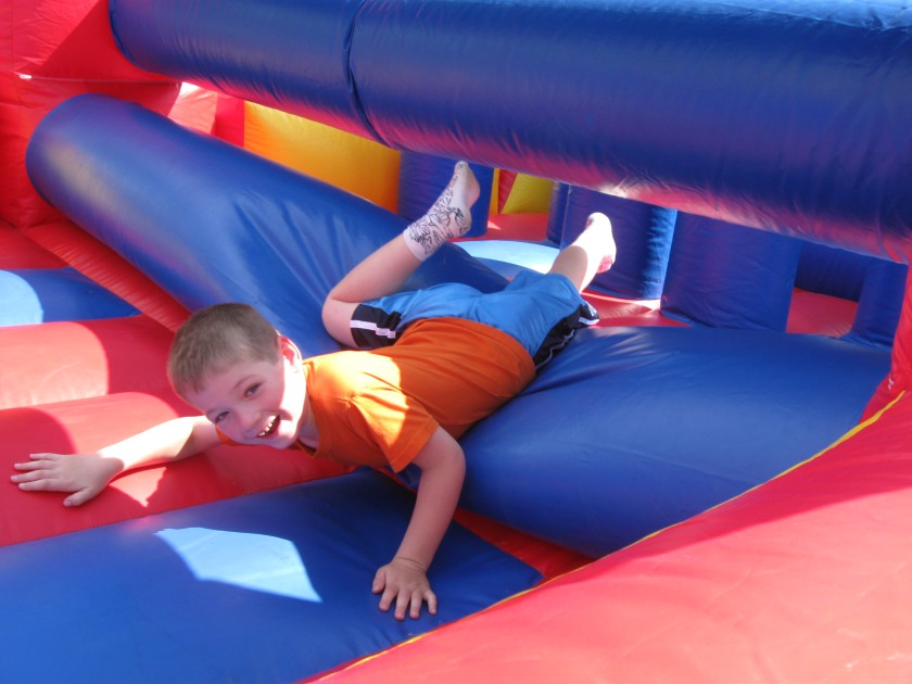 Leo on the obstacle course at the Clarke School Fair