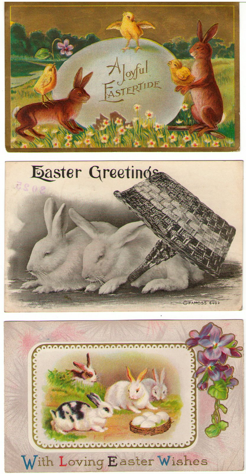 Vintage Post Cards with Easter Bunnies